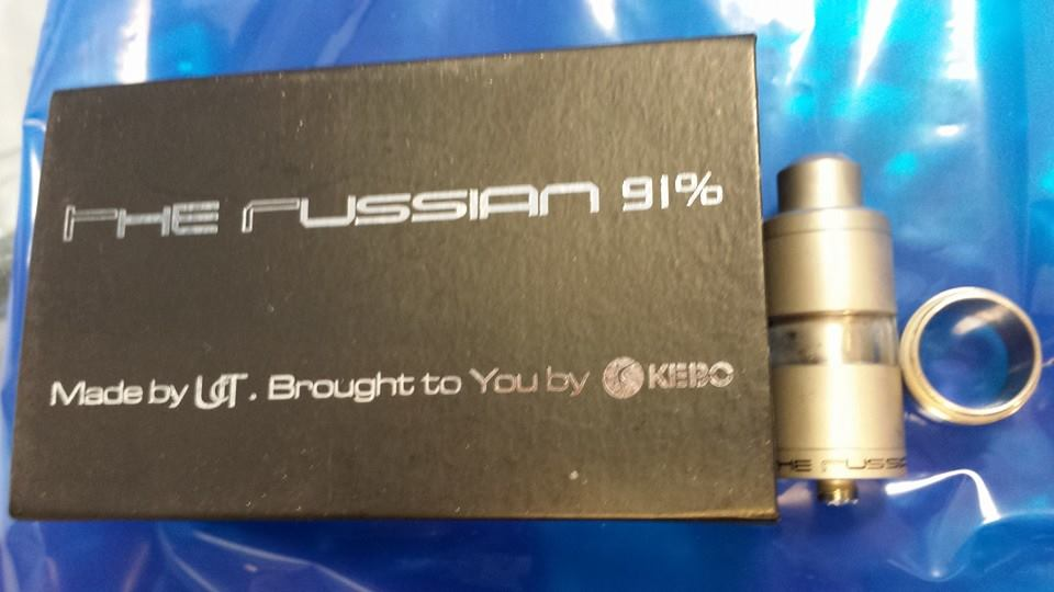 The Russian 91% rba atomizer, the design that inspired all of them.