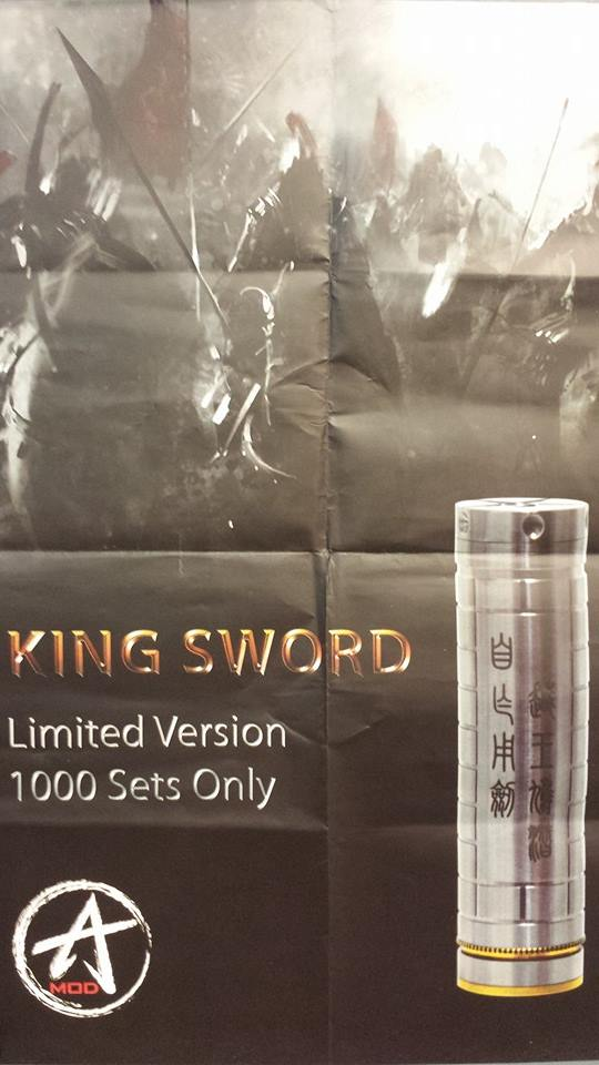 King Sword. Limited quantity available at ECF Vapor Emporium.